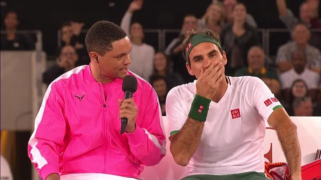 """Noah interviewt Federer beim Seitenwechsel: """"Rafa hat die besseren Trickshots!"""""""