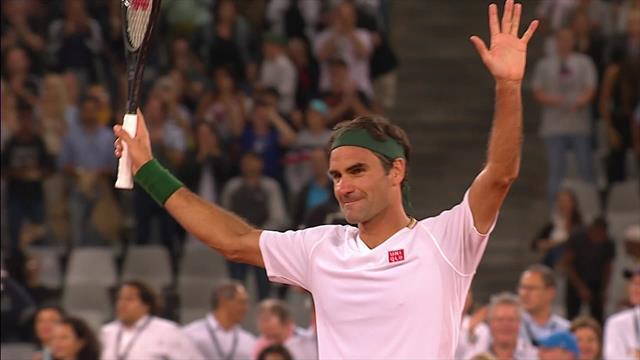 Federer beendet #MatchinAfrica mit edlem Stoppball