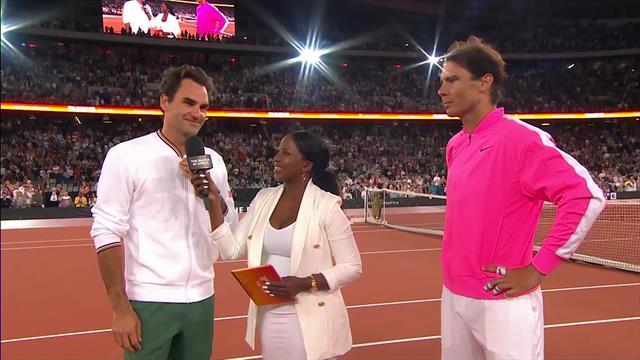 Stolte Federer og Nadal: Det har været en oplevelse for livet at spille her