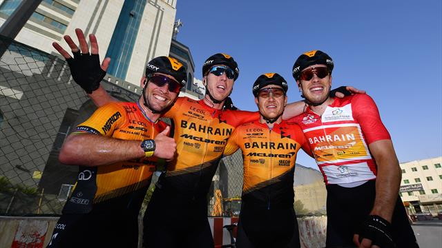 Bahrain-McLaren win first GC title as Cavendish acts as lead-out man for Bauhaus