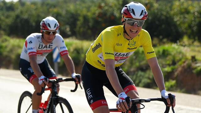 Rising star Pogacar secures Valencia overall title as Jakobsen pips Groenewegen in final sprint