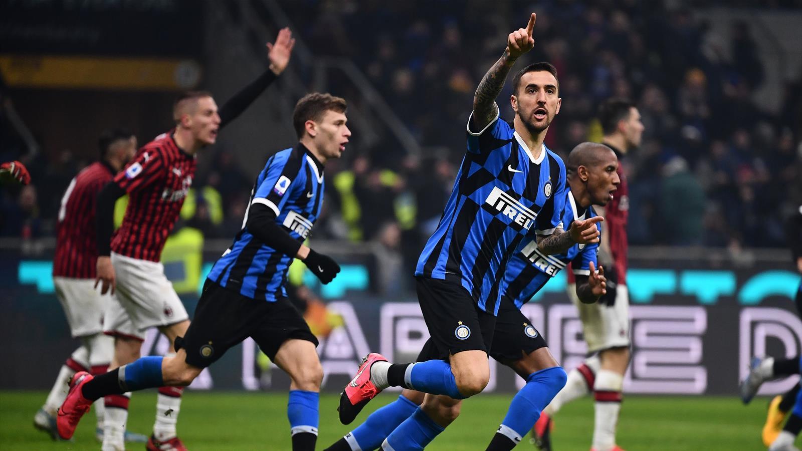 Menée 2-0, l'Inter a renversé l'AC Milan (4-2) - Serie A 2019-2020 - Football - Eurosport