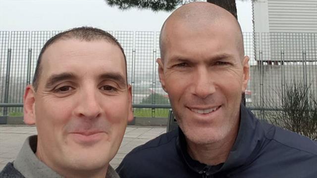 El percance de tráfico de Zidane que acabó... con un selfie