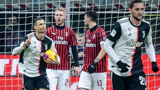 Ronaldo penalty earns Juventus draw at 10-man Milan