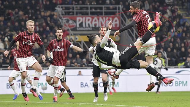 La moviola di Milan-Juventus: giusto il rigore per il mani di Calabria; Ibrahimovic salta il ritorno