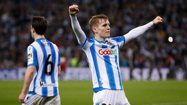 Real Sociedad seize advantage over Mirandes in Copa del Rey semi-final