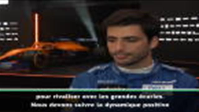 """McLaren - Sainz Jr. : """"2020, l'année pour progresser"""""""