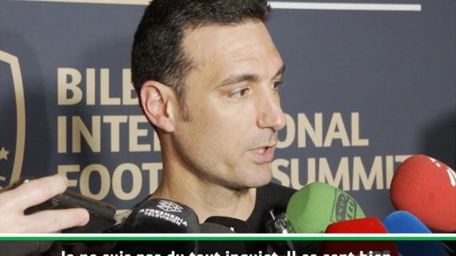 """Argentine - Scaloni : """"Messi se sent bien au Barça"""""""