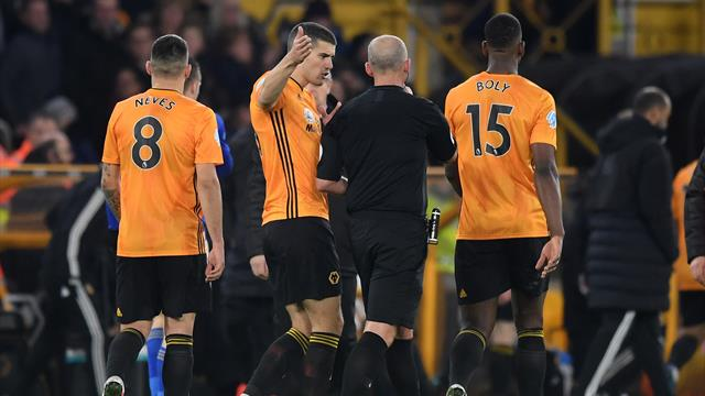 Wolves denied in VAR storm as 10-man Leicester cling on for point