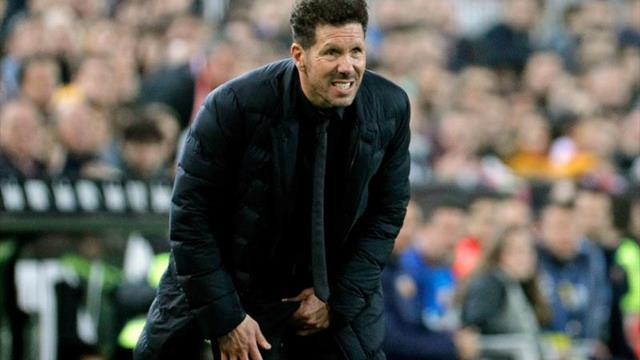 """Simeone: """"Fue un partidazo entre dos grandes de la Liga"""""""