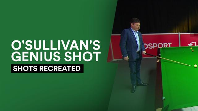 Shots Recreated: White takes on O'Sullivan's 'genius' precision shot