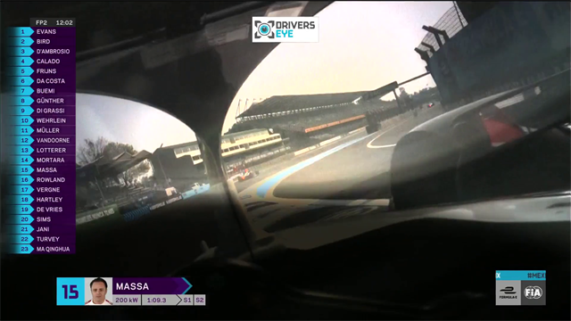 Ride with Felipe Massa: Incredible driver's eye view from ePrix in Mexico