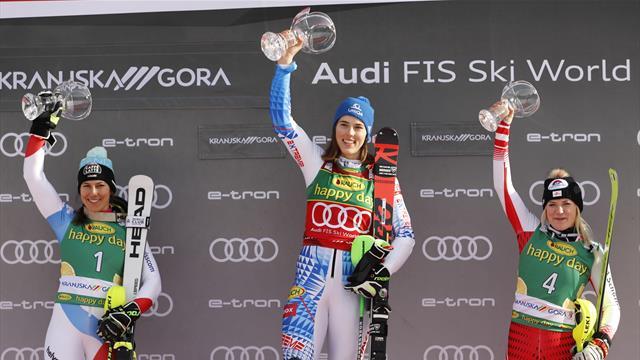 Vlhova bounces back to win slalom gold at Kranjska Gora