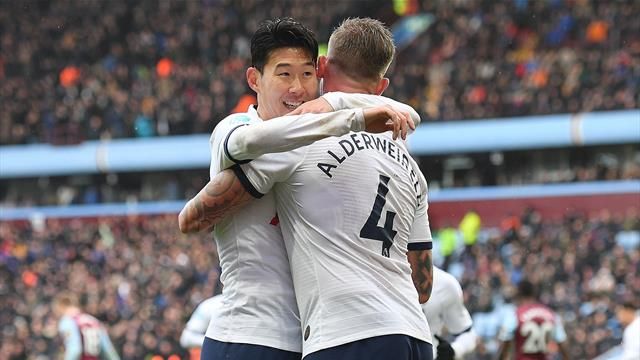 Son strikes in stoppage time to give Spurs dramatic win over Villa
