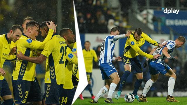 Highlights: Brøndby sejrede i Odense i dramatisk regnvejrskamp