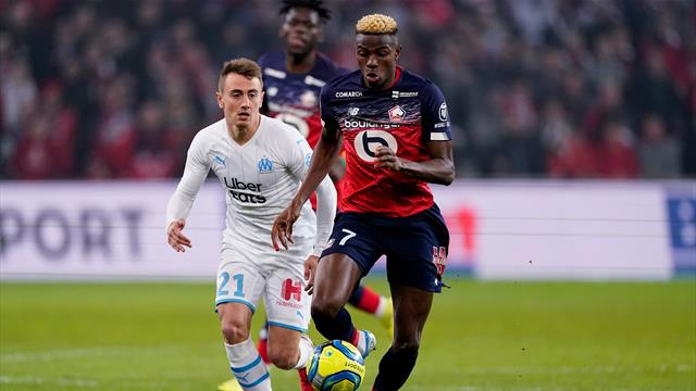 Marseille close Ligue 1 gap after comeback 2-1 win at Lille