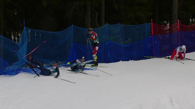 Ski Tour | Enorme crash bij 15km in Ostersund
