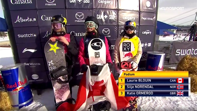 GB's Ormerod finishes third as Blouin wins slopestyle final in Calgary