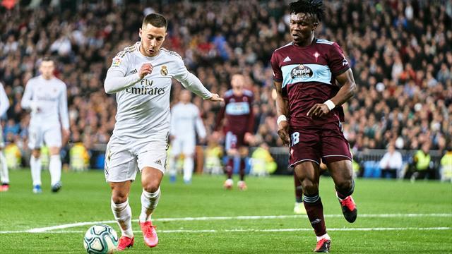 """Real Madrid - Celta 2-2. Hazard a jucat excelent, dar """"galacticii"""" pierd teren în lupta pentru titlu"""