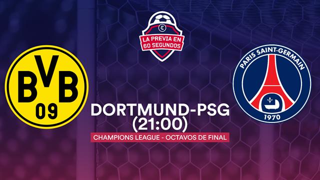 """La previa en 60"""" del Dortmund-PSG: Neymar ante el 'muro amarillo' (21:00)"""