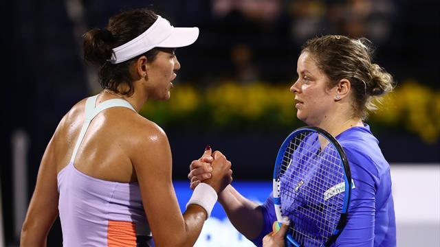 Clijsters falls to Muguruza in first match since 2012