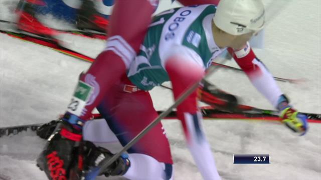 Посмотри, как Крюгер бросился под лыжи Большунова и не пустил русского лыжника в финал спринта