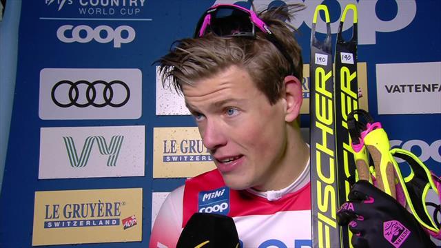 'A really tough race!' - Klaebo on victory
