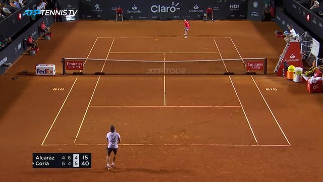 ATP Río de Janeiro 2020, Alcaraz-Coria: Despierta del sueño con la cabeza muy alta