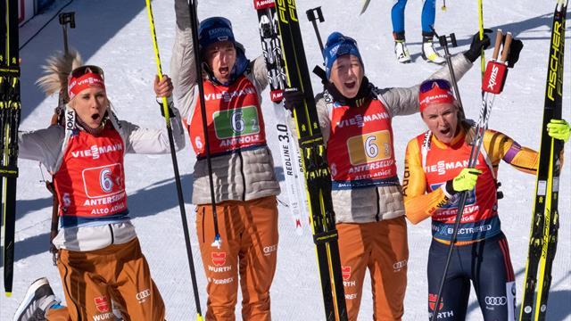 Silber für deutsche Damen in der Staffel - Norwegen das Maß der Dinge