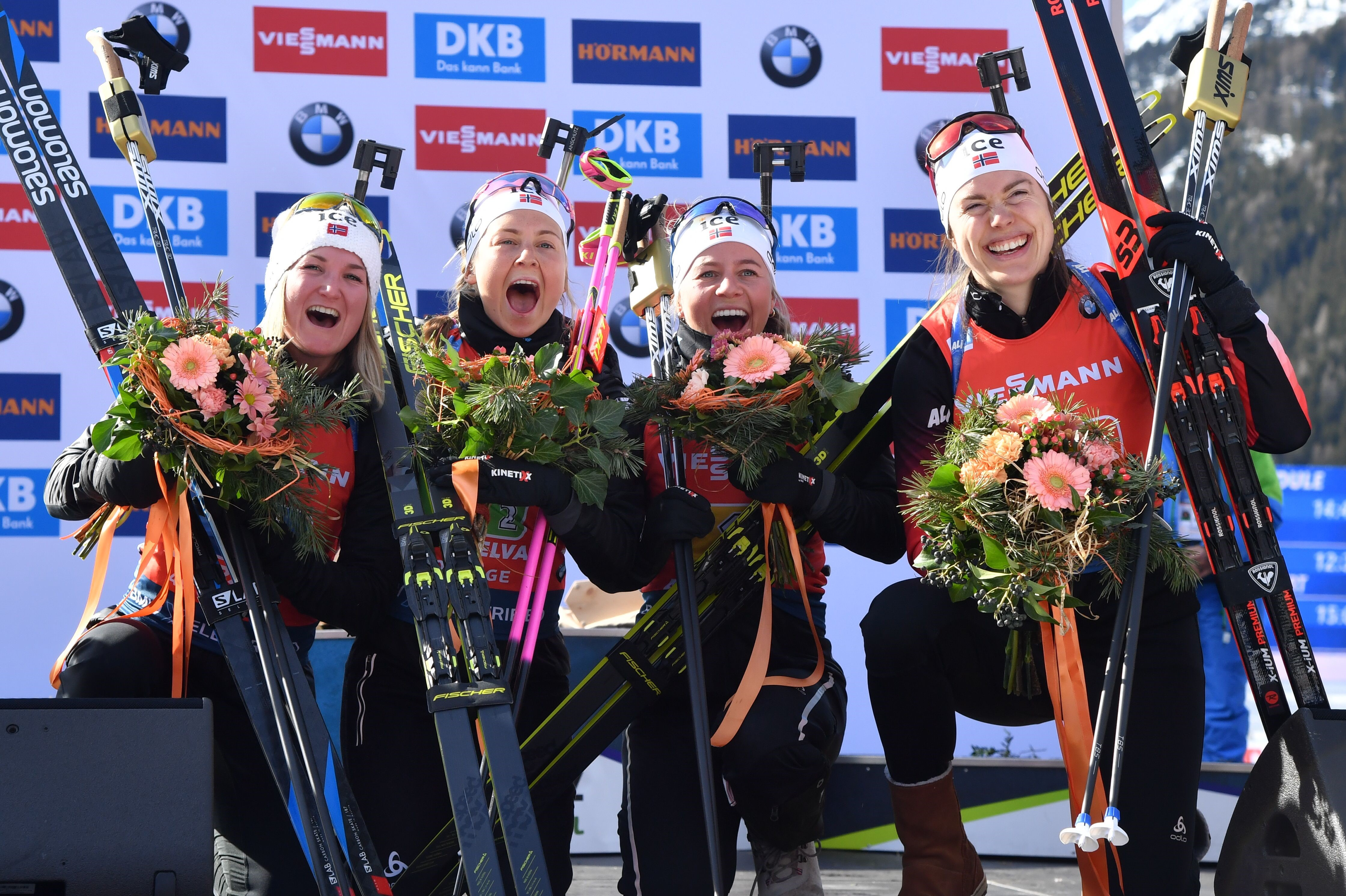 Marte Olsbu Roeiseland, Ingrid Landmark Tandrevold, Tiril Eckhoff et Synnove Solemdal titrées en relais aux Mondiaux 2020