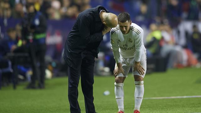 """""""Ça n'a pas l'air d'aller"""" : Zidane inquiet pour Hazard"""