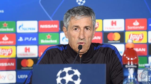 """Setién avisa: """"Todos tienen en mente los partidos de Roma y Liverpool"""""""