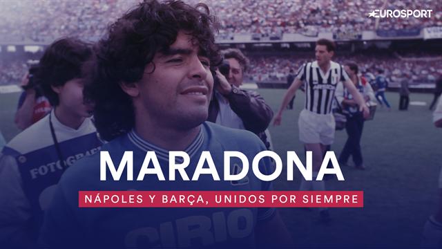 Champions League: Maradona, el astro mundial que unió de por vida a Barça y Nápoles