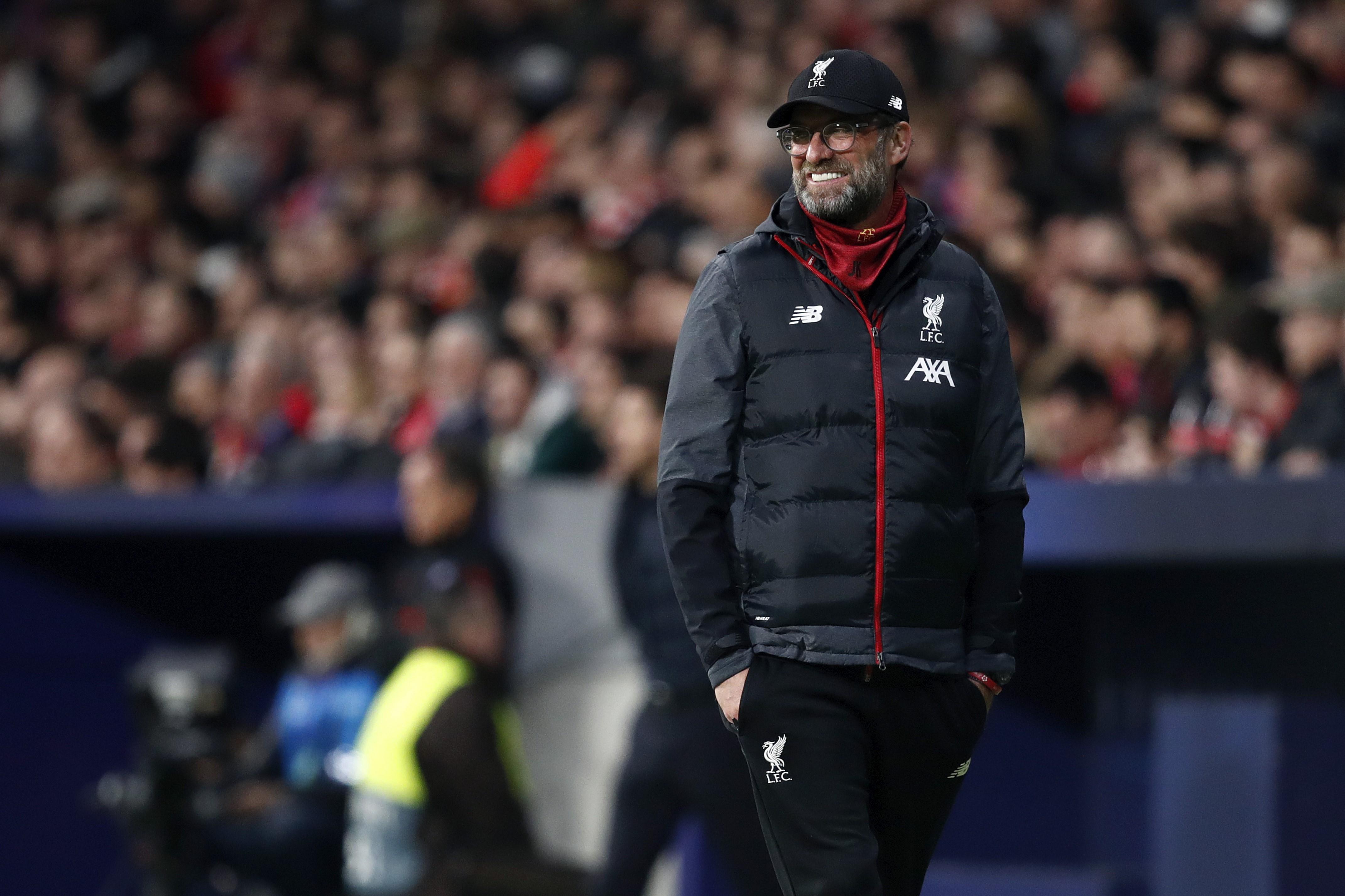 Jurgen Klopp lors de Atletico Madrid - Liverpool en Ligue des champions le 18 février 2020
