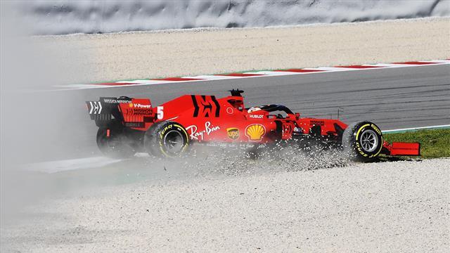 F1: penultima giornata di test a Montmelò. Vettel firma il miglior tempo