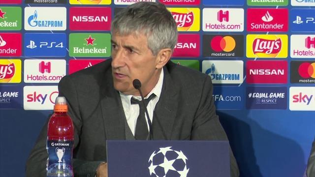 """Setien: """"Difficilmente il Napoli potrà difendersi così bene al Camp Nou"""""""
