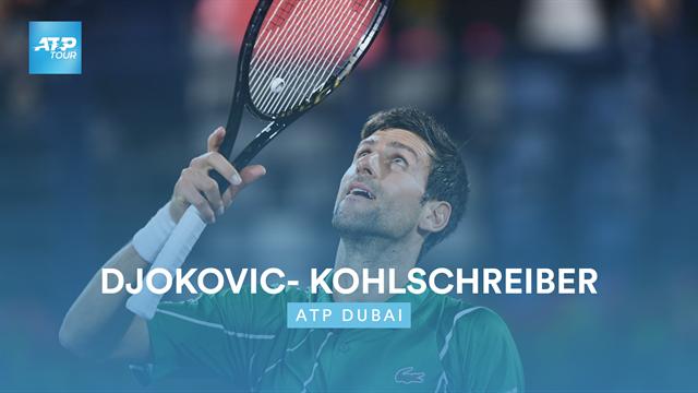 Djokovic - Kohlschreiber : le résumé