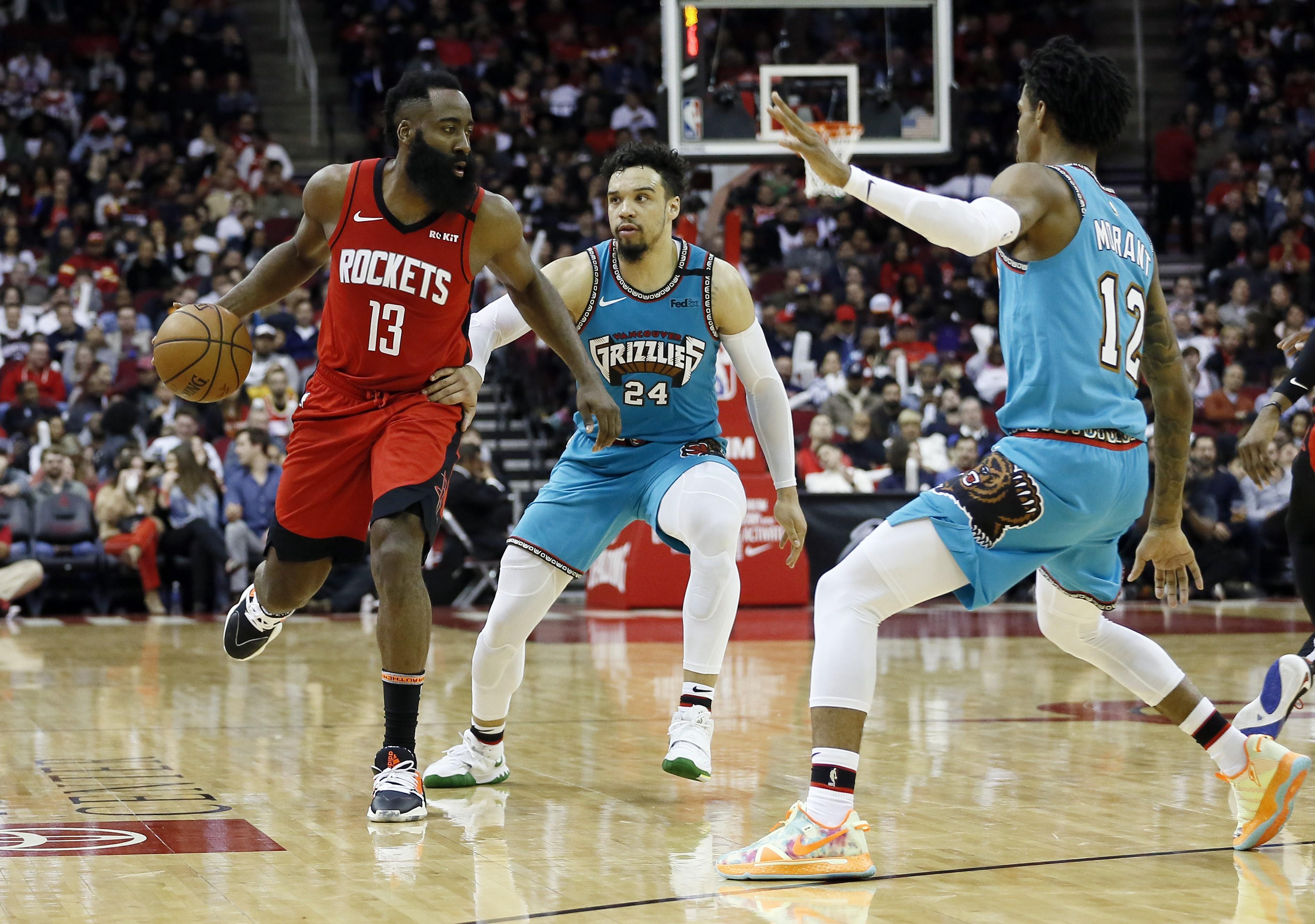 James Harden lors de Houston - Memphis en NBA le 26 février 2020