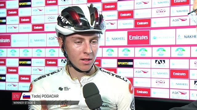 Pogacar: 'I threw my bike on the line'