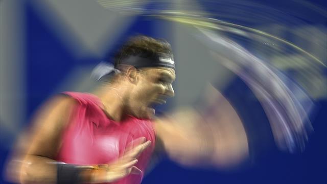 En route pour le triplé au Mexique, Nadal a remis le turbo