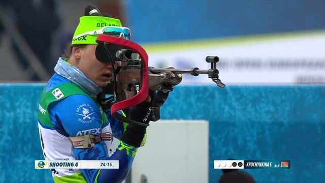 Double delight for Belarus as Elena Kruchinkina takes victory