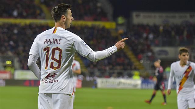 Kalinic, primo gol e prima doppietta in giallorosso