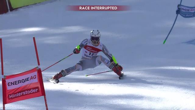'Oooh!' - Braathen suffers nasty crash on 'brutal' Hinterstoder course