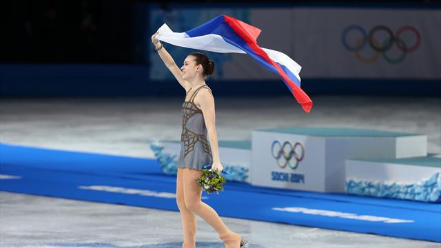 Clap de fin pour la championne olympique russe Sotnikova