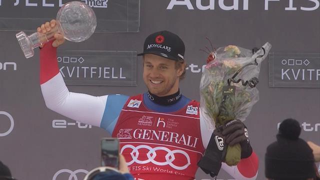 Caviezel wins Super G title as bad weather postpones Kvitfjell