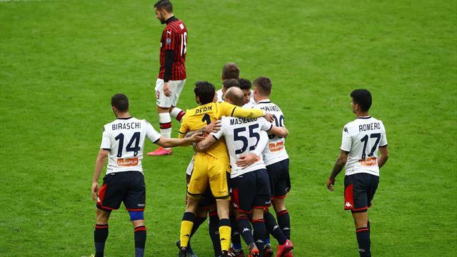 Dans un San Siro vide, Milan chute face au Genoa
