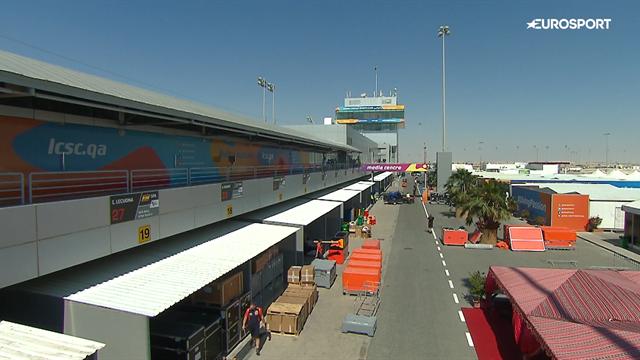 MotoGP | Lege paddock op de donderdag in Qatar