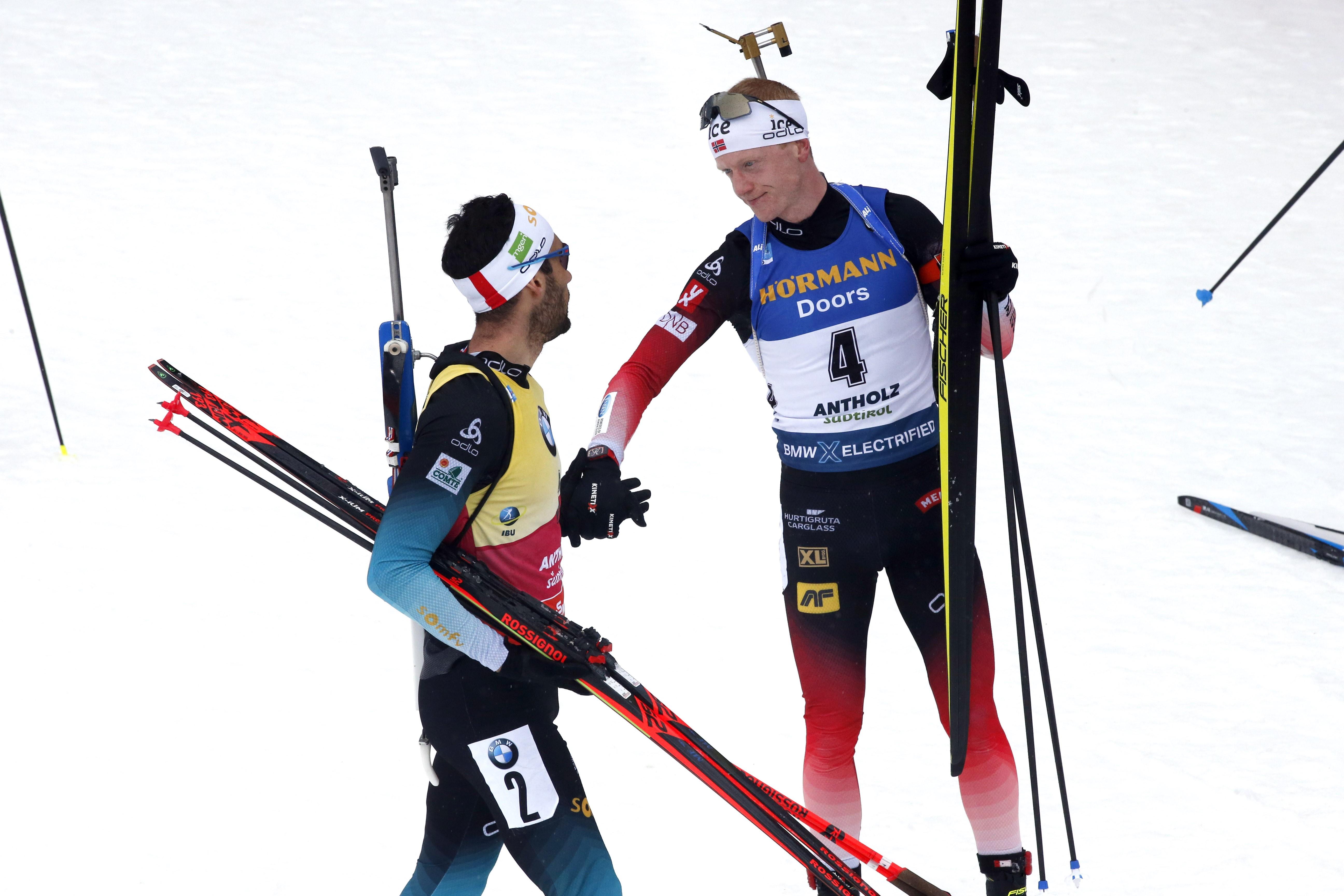 Martin Fourcade et Johannes Boe