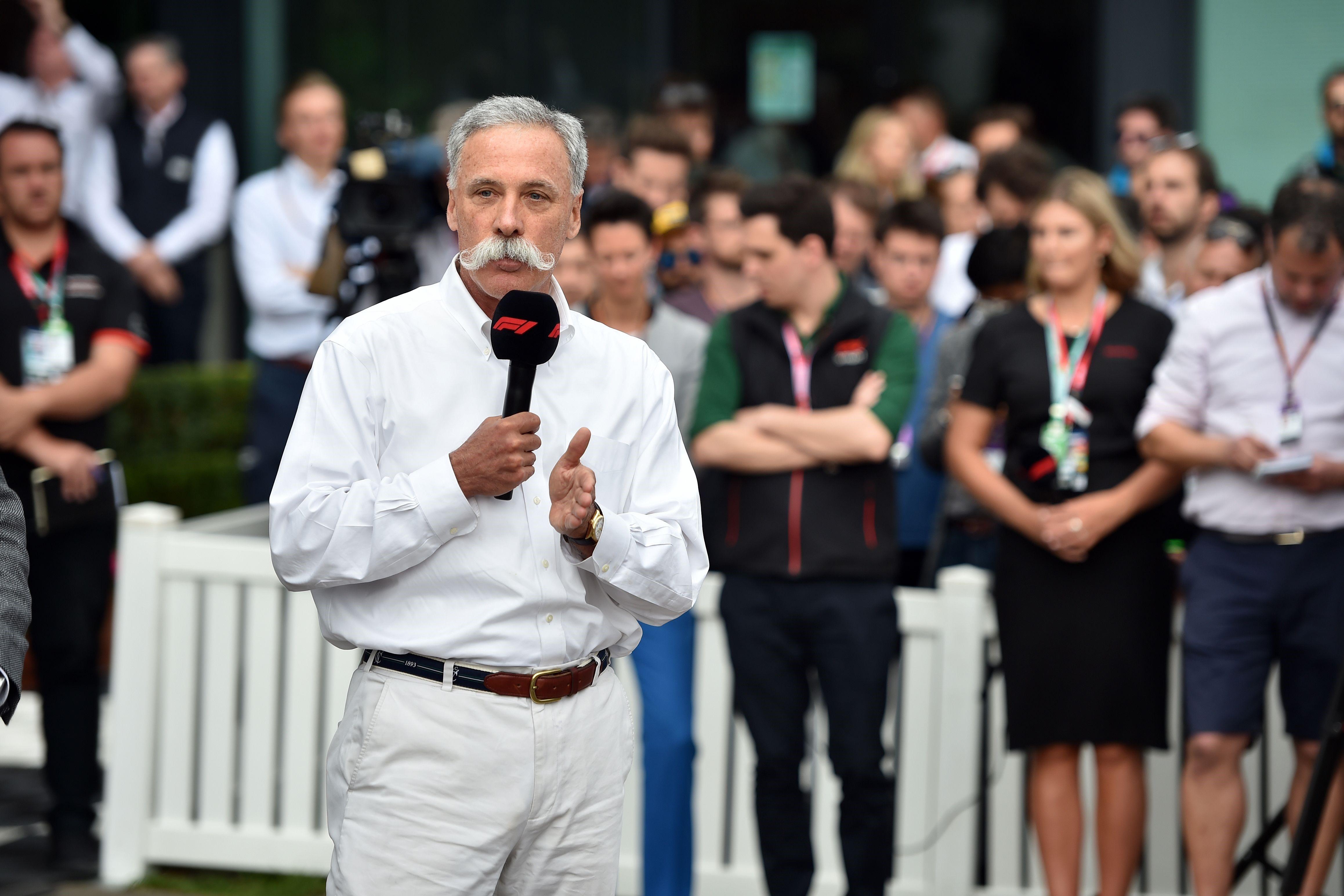 Chase Carey, président de Formula One Group, le 13 mars 2020 à Melbourne
