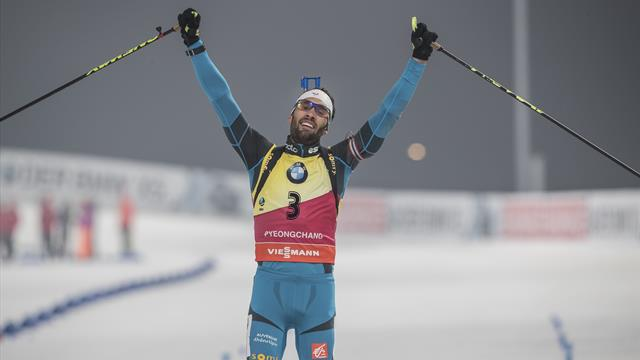 Re-live Martin Fourcade's three golds at Pyeongchang 2018